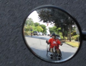 Brian in rearview mirror